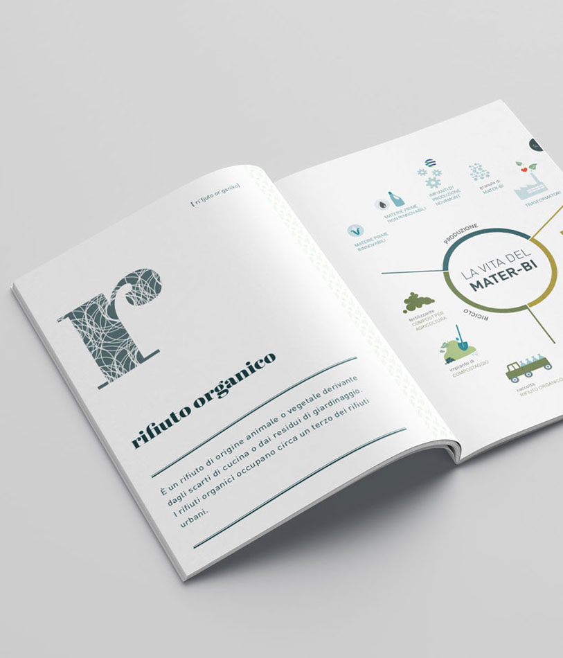 interni dell'Annual Report cartaceo Novamont 2015